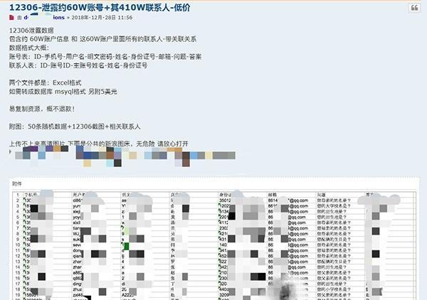 470万条12306用户数据疑遭泄露,警方证...