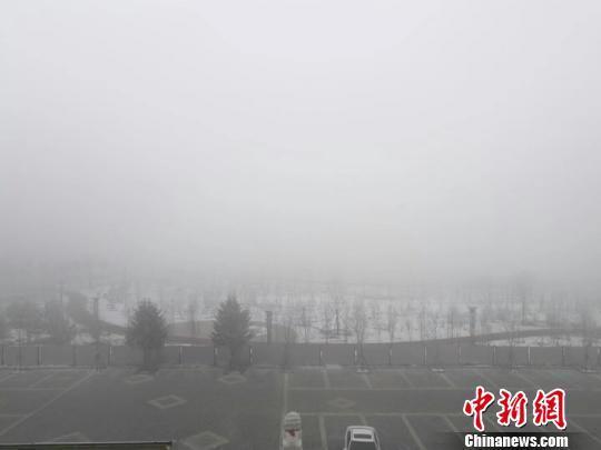 哈尔滨现大雾天气 高速封闭航班推迟起飞
