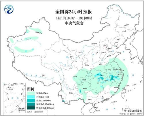 华北黄淮汾渭平原部分地区有霾 18日夜...