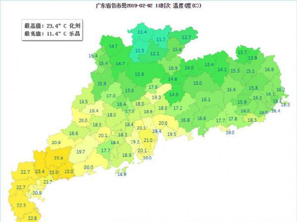 春节期间广东天气总体平稳,无大范围低...
