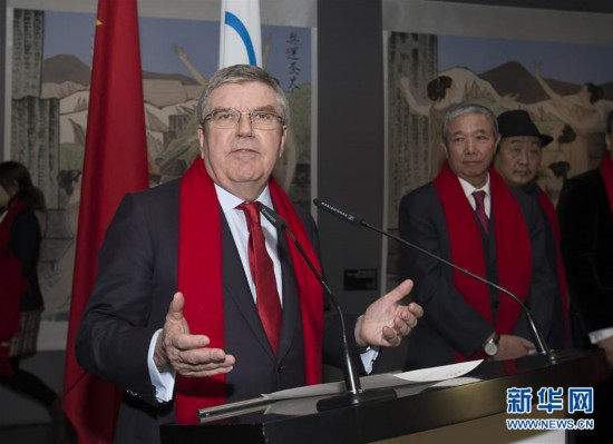 (体育)(5)国际奥委会主席向中国人民拜年