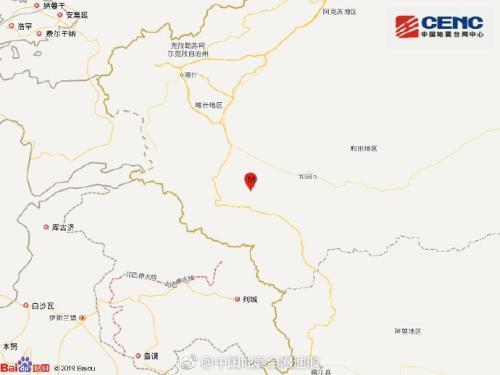 新疆和田地区皮山县发生3.4级地震 震源...