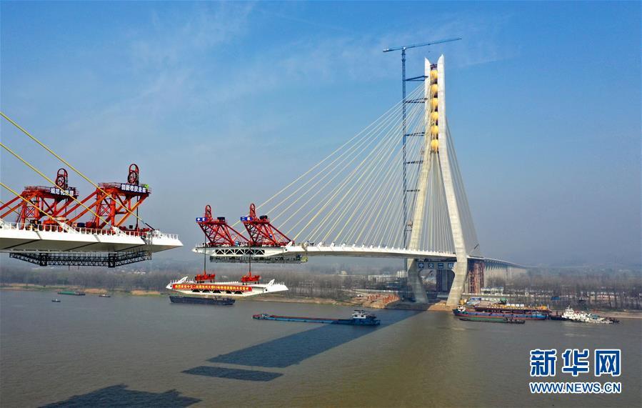 #(经济)(2)安徽池州长江公路大桥合龙在即