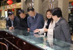 阜新市人大常委会到镇平县考察玉文化产业