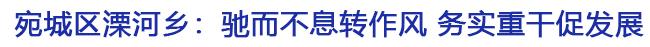 宛城区溧河乡:驰而不息转作风 务实重干促发展