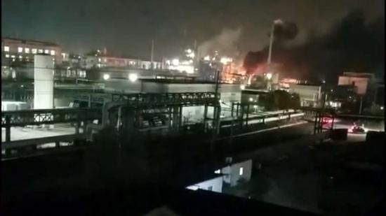 江苏泰州一化工厂污水处理车间甲苯爆燃...