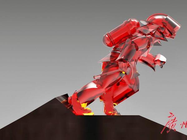 三天完成雕塑《我将无我》,广美教授和...